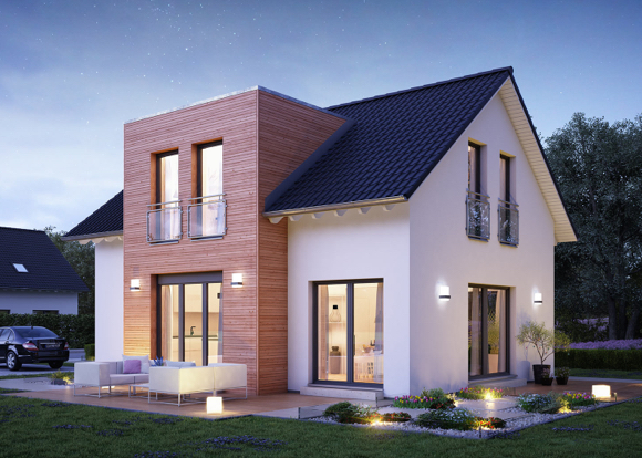 Massives zweigeschössiges Einfamilienhaus speziell für Familien.