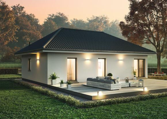 Freistehendes elegantes Bungalow mit großer Terrasse.